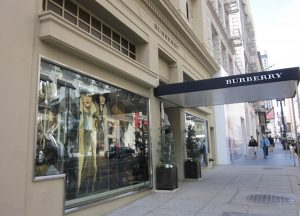 Burberry store in San Francisco