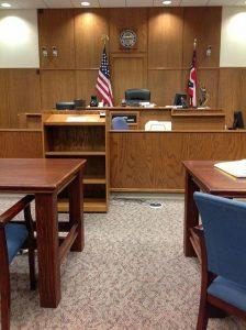 courtoom interior looking toward judge